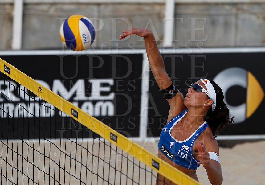 Italy's Marta Menegatti in action at the Beach Volleyball World Tour Grand Slam, Foro Italico, Rome, 21 June 2013.<br /> UPDATE IMAGES PRESS/Isabella Bonotto