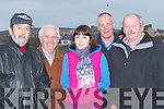 MEETING: Friends meet up at the Ballyheigue Races on Sunday l-r: Sea?n Stack (Ballybunion), Tom Lawlor (Ballyheigue), Brid Stack (Ballybunion), Billy O'Connell (Kilmoyley) and Ger Lynch (Causeway).   Copyright Kerry's Eye 2008