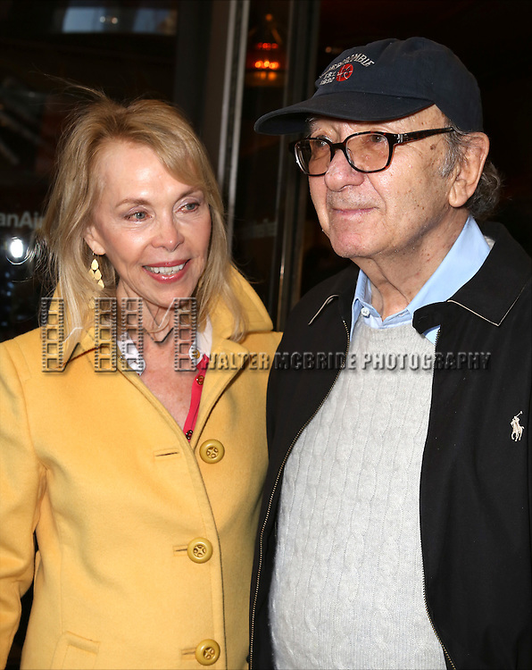 Elaine Joyce and Neil Simon attending the Opening Night Broadway Performance for 'Violet'  at The American Airlines Theatre on April 20, 2014 in New York City.