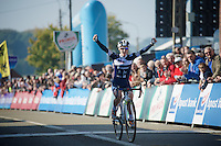 biggest victory to date for Pavla Havlikova (CZE/MRM-Avalon)<br /> <br /> Elite Women's Race<br /> bpost bank trofee<br /> GP Mario De Clercq Ronse 2015
