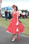 Best Dressed Lady Finalist, Veronica Ní Chuinn at the Bellewstown Races...Photo NEWSFILE/Jenny Matthews.(Photo credit should read Jenny Matthews/NEWSFILE)....This Picture has been sent you under the condtions enclosed by:.Newsfile Ltd..The Studio,.Millmount Abbey,.Drogheda,.Co Meath..Ireland..Tel: +353(0)41-9871240.Fax: +353(0)41-9871260.GSM: +353(0)86-2500958.email: pictures@newsfile.ie.www.newsfile.ie.FTP: 193.120.102.198.