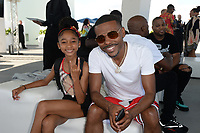 MIAMI BEACH, FL - OCTOBER 05: That Girl Lay Lay and Lil Duval pose for a portrait during the Empire Records DJ party held at Skydeck on October 5, 2018 in Miami Beach, Florida. <br /> CAP/MPI04<br /> &copy;MPI04/Capital Pictures