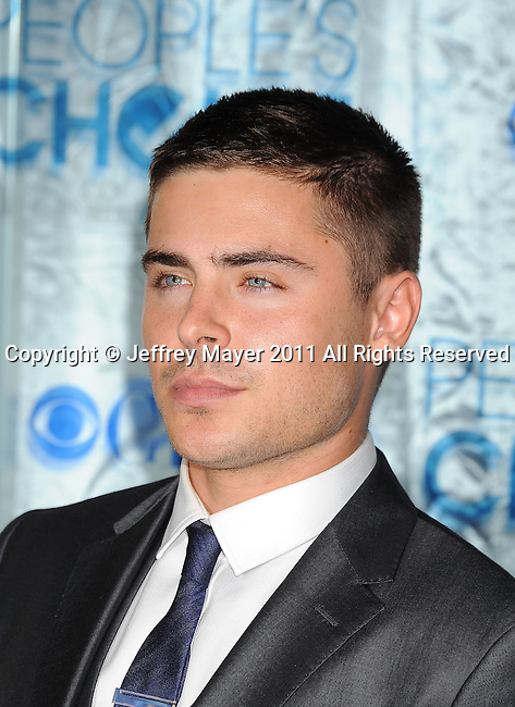 LOS ANGELES, CA. - January 05: Zac Efron arrives at the 2011 People's Choice Awards at Nokia Theatre L.A. Live on January 5, 2011 in Los Angeles, California.