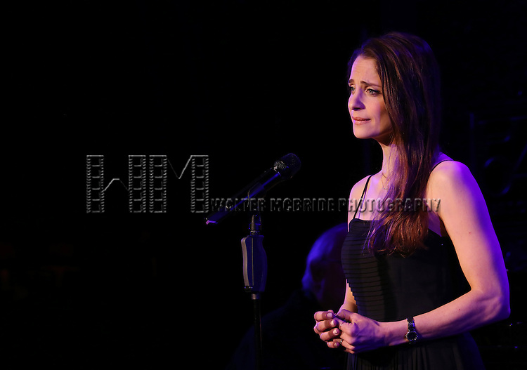 """Elena Shaddow perform A Special Press Preview of her upcoming show """"54 Below Swings Time and Again""""  at 54 Below on April 4, 2014 in New York City."""