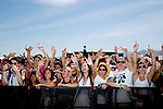 Action Bronson fans at Weekend 1 of the Coachella Valley Music and Arts Festival in Indio, California April 10, 2015. (Photo by Kendrick Brinson)