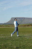 Daniel Holland (Castle) during round 1 of The West of Ireland Amateur Open in Co. Sligo Golf Club on Friday 18th April 2014.<br /> Picture:  Thos Caffrey / www.golffile.ie