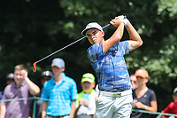 Bethesda, MD - July 1, 2017:  Rickie Fowler in action during Round 3 of professional play at the Quicken Loans National Tournament at TPC Potomac in Bethesda, MD, July 1, 2017.  (Photo by Elliott Brown/Media Images International)