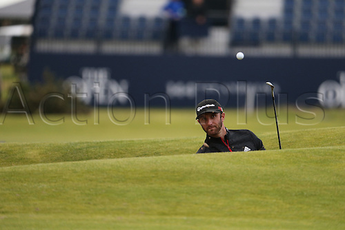 19.07.2015. Old Course, St Andrews, Fife, Scotland. Dustin Johnson of United States in action on the 17th hole during the third round of the 144th British Open Championship at the Old Course, St Andrews in Fife, Scotland.
