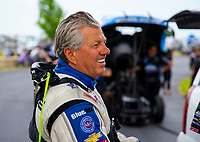 May 18, 2018; Topeka, KS, USA; NHRA funny car driver John Force during qualifying for the Heartland Nationals at Heartland Motorsports Park. Mandatory Credit: Mark J. Rebilas-USA TODAY Sports