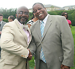 Black Enterprise's Alfred A. Edmond and Derek T. Dingle Attend The Fourth Annual Reginald F. Lewis Foundation Gala Luncheon Held at The Reginald F. Lewis Estate, East Hampton New York,  6/25/11