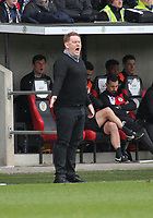 Livingston Manager David Hopkin shouting at his players in the St Mirren v Livingston Scottish Professional Football League Ladbrokes Championship match played at the Paisley 2021 Stadium, Paisley on 14.4.18.