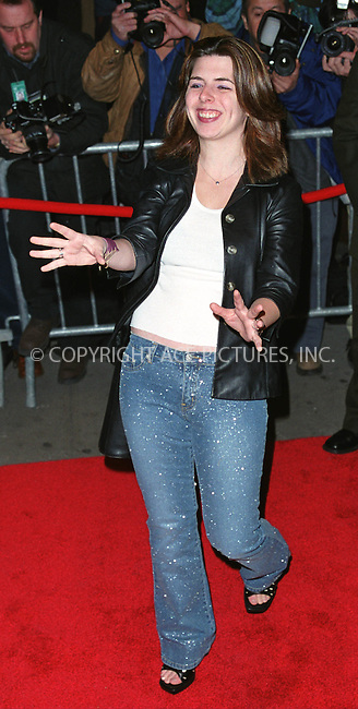 "Actress HEATHER MATARAZZO arrives at the screening of ""Harrison's Flowers"" in New York. March 12, 2002. © 2002 by Alecsey Boldeskul/NY Photo Press.   ..*PAY-PER-USE*      ....NY Photo Press:  ..phone (646) 267-6913;   ..e-mail: info@nyphotopress.com"