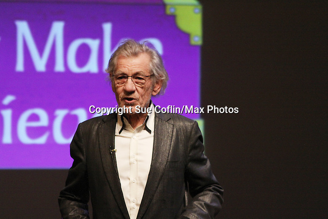 Host Sir Ian McKellen - Only Make Believe on Broadway - 14th Annual Gala - on November 4, 2013 hosted by Sir Ian McKellen honoring Susan Sarandon in New York City, New York.  (Photo by Sue Coflin/Max Photos)