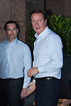 © Joel Goodman - 07973 332324 . No syndication permitted . 28/09/2013 . Manchester , UK . The British Prime Minister , DAVID CAMERON , arrives at the Midland Hotel in Manchester this evening (28th September 2013) ahead of the Conservative Party annual conference in Manchester , tomorrow (Saturday 29th September 2013) . Photo credit : Joel Goodman