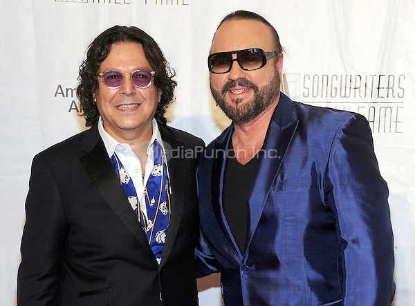 NEW YORK, NY - JUNE 09:  Rudy Perez and Desmond Child attends the 47th Annual Songwriters Hall Of Fame Induction And Awards Gala at The New York Marriott Marquis on June 9, 2016 in New York City.  Photo Credit:John Palmer/ Media Punch