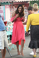 "NEW YORK, NY - JULY 11: Priyanka Chopra on the set of ""Isn't It Romantic"" at Central Park on July 11, 2017 in New York City. Credit: DC/Media Punch"