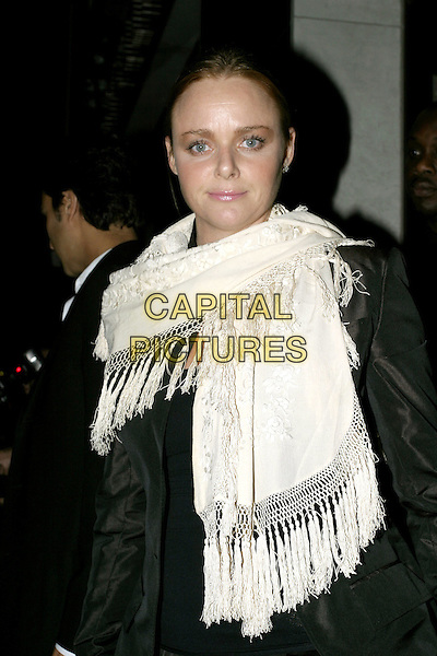 STELLA McCARTNEY.Sky Captain & The World OF Tomorrow Premiere.UCI Empire, Leicester Square.Monday, September 27th, 2004.half length, white shawl, scarf, wrap.www.capitalpictures.com.sales@capitalpictures.com.© Capital Pictures.