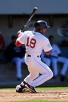 Infielder Tony Thomas #18 of the Pawtucket Red Sox during a game versus the Toledo Mud Hens on May 1, 2011 at McCoy Stadium in Pawtucket, Rhode Island. Photo by Ken Babbitt /Four Seam Images