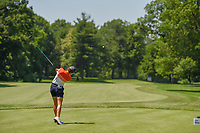 Azahara Munoz (ESP) watches her tee shot on 11 during round 2 of the 2018 KPMG Women's PGA Championship, Kemper Lakes Golf Club, at Kildeer, Illinois, USA. 6/29/2018.<br /> Picture: Golffile | Ken Murray<br /> <br /> All photo usage must carry mandatory copyright credit (© Golffile | Ken Murray)