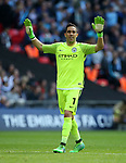 Manchester City's Claudio Bravo in action during the FA Cup Semi Final match at Wembley Stadium, London. Picture date: April 23rd, 2017. Pic credit should read: David Klein/Sportimage