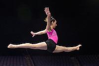 TUCSON, AZ - February 10, 2017: Cal Bears Women's Gymnastics team vs. the Arizona Wildcats at McKale Center. Final score, Cal Bears 195.325, Arizona Wildcats 196.100