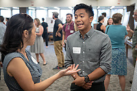 "JP Flores presents, ""From Sequence to Activity, Synthetic Neuroexcitatory Peptides from Fish-Hunting Cone Snails""<br /> Mentor: Joseph Schulz, Biology<br /> Occidental College's Undergraduate Research Center hosts their annual Summer Undergraduate Research Conference on July 31, 2019. Student researchers presented their work as either oral or poster presentations at this final conference. The program lasts 10 weeks and involves independent research in all departments.<br /> (Photo by Marc Campos, Occidental College Photographer)"