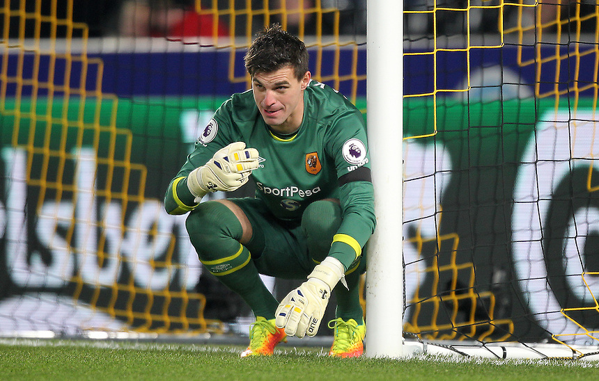 Hull City's Eldin Jakupovic<br /> <br /> Photographer /Mick Walker CameraSport<br /> <br /> The EFL Cup Quarter Final - Hull City v Newcastle United - Tuesday 29th November 2016 - The KCOM Stadium - Hull<br />  <br /> World Copyright &copy; 2016 CameraSport. All rights reserved. 43 Linden Ave. Countesthorpe. Leicester. England. LE8 5PG - Tel: +44 (0) 116 277 4147 - admin@camerasport.com - www.camerasport.com