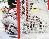 Steve Michalek (Harvard - 34), Sean Malone (Harvard - 17) - The Harvard University Crimson defeated the visiting Princeton University Tigers 5-0 on Harvard's senior night on Saturday, February 28, 2015, at Bright-Landry Hockey Center in Boston, Massachusetts.