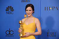 After winning the category of BEST PERFORMANCE BY AN ACTRESS IN A TELEVISION SERIES &ndash;  MUSICAL OR COMEDY for her role in &quot;The Marvelous Mrs. Maisel,&quot; actress Rachel Brosnahan poses backstage in the press room with her Golden Globe Award at the 76th Annual Golden Globe Awards at the Beverly Hilton in Beverly Hills, CA on Sunday, January 6, 2019.<br /> *Editorial Use Only*<br /> CAP/PLF/HFPA<br /> Image supplied by Capital Pictures