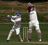 Arbroath wicket-keeper Marc Petrie (here seen collecting the ball in an U19 match yesterday) who has been drafted in to replace injured Scotland keeper Simon Smith in the One Day International Scotland V Canada match at Mannofield, Aberdeen from tomorrow - Picture by Donald MacLeod 05.07.09