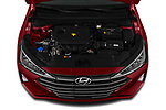 Car Stock 2019 Hyundai Elantra Limited 4 Door Sedan Engine  high angle detail view