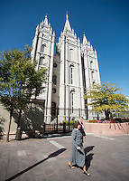 The Salt Lake Temple, at Temple Square in Salt Lake City, Utah, Monday, October 1, 2012. ..Photo by Matt Nager