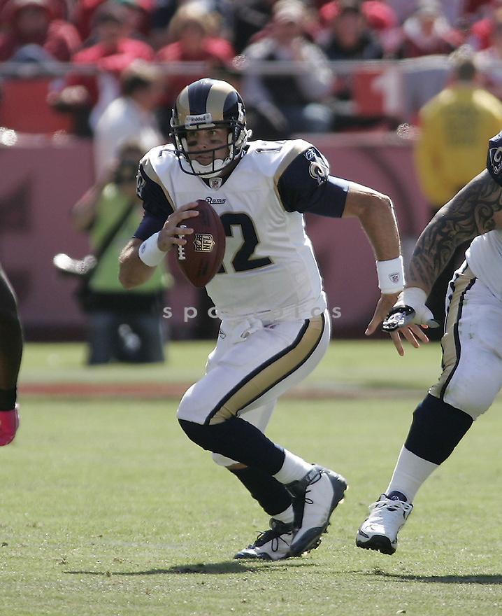 KYLE BOLLER, of the St. Louis Rams in action during the Rams game against San Francisco 49ers  in San Francisco, CA on October 4, 2009.  The 49ers  beat the Rams 35-0..
