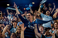 Kansas City, KS - Wednesday August 9, 2017: fan, fans, Sporting Kansas City during a Lamar Hunt U.S. Open Cup Semifinal match between Sporting Kansas City and the San Jose Earthquakes at Children's Mercy Park.