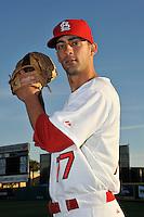 Mar 01, 2010; Jupiter, FL, USA; St. Louis Cardinals pitcher Pete Parise (77) during  photoday at Roger Dean Stadium. Mandatory Credit: Tomasso De Rosa/ Four Seam Images