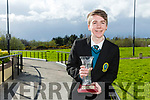 """Mercy Mounthawk Student Tiernan Brosnan winner of the Tralee Chamber Alliance -  """"Our Big Idea"""" event for TY Students at the IT Tralee North Campus on Monday with his Idea Tralee Tracks and Trails"""