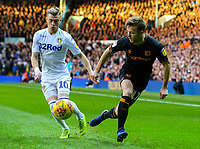 Leeds United's Ezgjan Alioski vies for possession with Hull City's Todd Kane<br /> <br /> Photographer Alex Dodd/CameraSport<br /> <br /> The EFL Sky Bet Championship - Leeds United v Hull City - Saturday 29th December 2018 - Elland Road - Leeds<br /> <br /> World Copyright © 2018 CameraSport. All rights reserved. 43 Linden Ave. Countesthorpe. Leicester. England. LE8 5PG - Tel: +44 (0) 116 277 4147 - admin@camerasport.com - www.camerasport.com
