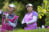 Shanshan Feng (CHN) on the 13th tee during Friday's Round 2 of The Evian Championship 2018, held at the Evian Resort Golf Club, Evian-les-Bains, France. 14th September 2018.<br /> Picture: Eoin Clarke | Golffile<br /> <br /> <br /> All photos usage must carry mandatory copyright credit (&copy; Golffile | Eoin Clarke)