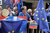 Campaigners for and against Brexit demonstrate outside Parliament on the day MPs voted to take control of the order paper, Westminster, London.