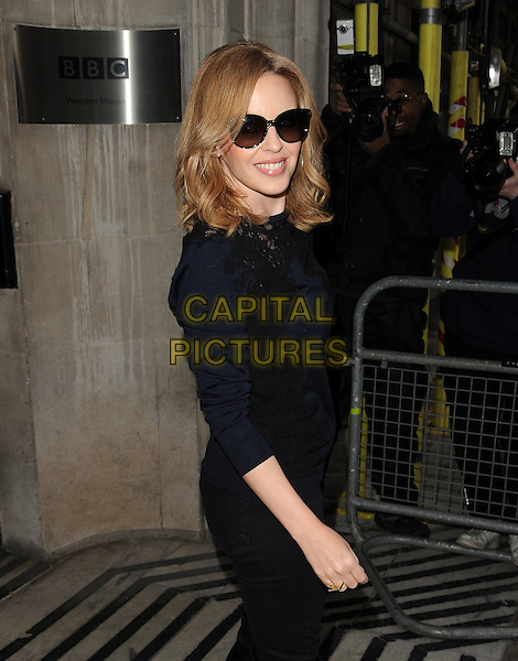 LONDON, UNITED KINGDOM - JANUARY 27: Kylie Minogue pictured outside BBC Radio on January 27, 2014 in London, England.<br /> CAP/AOU<br /> &copy;AOU/Capital Pictures