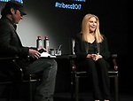 Tribeca Talks: Barbra Streisand with Robert Rodriguez during the 2017 Tribeca Film Festival at BMCC Tribeca PAC on April 29, 2017 in New York City.