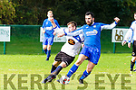 Matthew Sima Kenmare and Sean O'Shea Killarney Athletic during their league clash in Woodlawn on Sunday