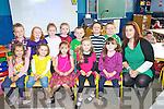 Chloe Quentin, Molly Foley, Holly Sinclair, Megan Moriarty, Jasmine Dwyer, Denis Moroney Fenton, Emma O'Sullivan, Niamh O'Sullivan, Grace Naughton, Ciaran Birmingham, Luke Moriarty and Sean Counihan, Caragh Lake National School, with their teacher Sinead Pigott, on Monday.............................................................................................................