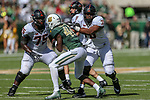 Baylor Bears running back Dru Dixon (44) in action during the game between the OSU Cowboys and the Baylor Bears at the McLane Stadium in Waco, Texas.