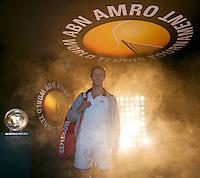 Rotterdam, The Netherlands. 13.02.2014. ABN AMRO World tennis Tournament. Igor Sijsling(NED) <br /> Photo:Tennisimages/Henk Koster