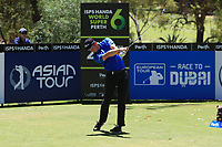 Grant Forrest (SCO) in action on the 2nd during Round 3 of the ISPS Handa World Super 6 Perth at Lake Karrinyup Country Club on the Saturday 10th February 2018.<br /> Picture:  Thos Caffrey / www.golffile.ie<br /> <br /> All photo usage must carry mandatory copyright credit (&copy; Golffile | Thos Caffrey)