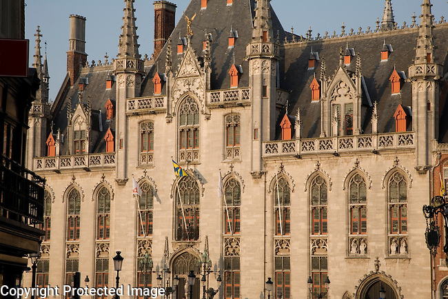 Provincial Palace in the Market Palace, Bruges, Belgium, Europe