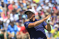 Rickie Fowler (USA) tees off the 1st tee to start his match during Friday's Round 2 of the 117th U.S. Open Championship 2017 held at Erin Hills, Erin, Wisconsin, USA. 16th June 2017.<br /> Picture: Eoin Clarke | Golffile<br /> <br /> <br /> All photos usage must carry mandatory copyright credit (&copy; Golffile | Eoin Clarke)
