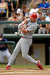 13 March 2006: Chris Duncan, infielder for the St. Louis Cardinals, at bat during a Spring Training game against the Atlanta Braves at The Ballpark at Disney's Wide World of Sports, in Orlando, Florida. The Cardinals defeated the Braves 9-0 in Grapefruit League play...Mandatory Photo Credit: Ed Wolfstein Photo..