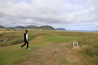 Mikko Ilonen (FIN) walks off the 14th tee during Thursday's Round 1 of the 2018 Dubai Duty Free Irish Open, held at Ballyliffin Golf Club, Ireland. 5th July 2018.<br /> Picture: Eoin Clarke | Golffile<br /> <br /> <br /> All photos usage must carry mandatory copyright credit (&copy; Golffile | Eoin Clarke)